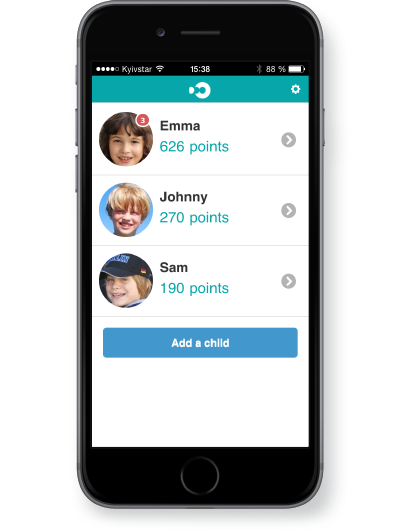 DooApp, the mobile application for parents to reward children