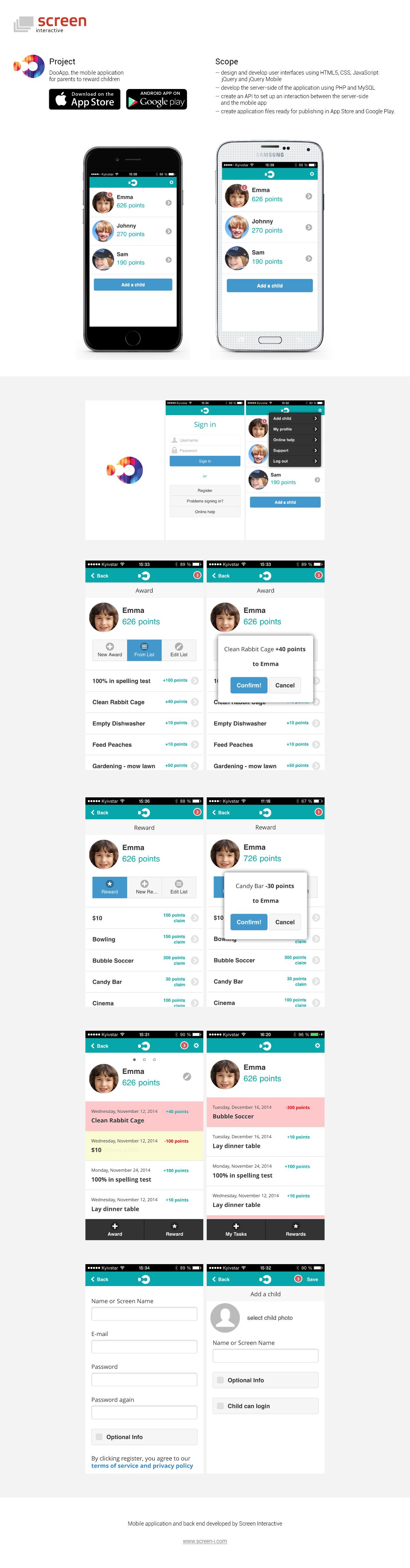 DooApp mobile application