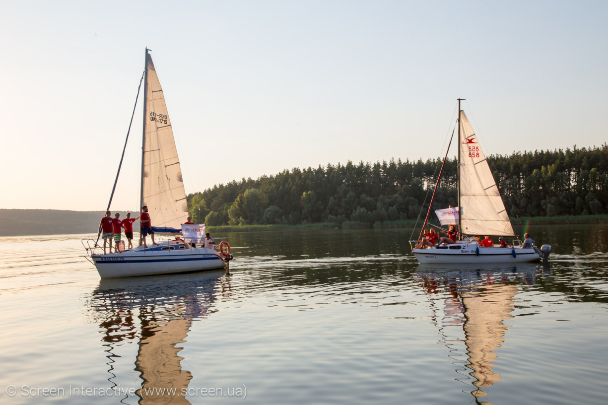 Endearing Saltovskoe Sea on the yachts